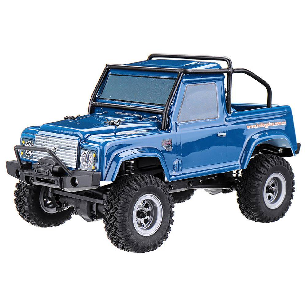 Hobby Plus CR-24 Defender 2.4G 1/24 4WD Brushed MINI RC Crawler Climbing RC Car RTR - Blue