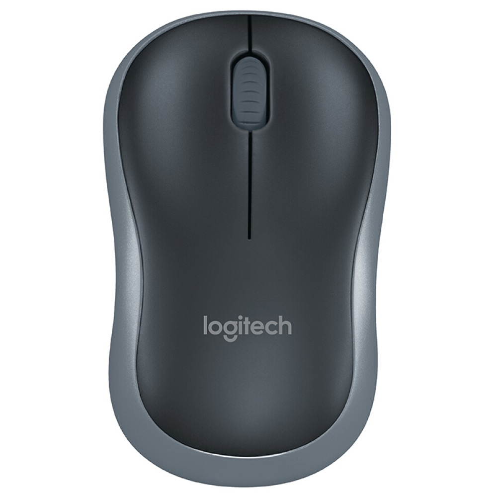 Logitech M185 Office Wireless-Maus 3-Tasten 1000 DPI Ambidextrous Design - Schwarz