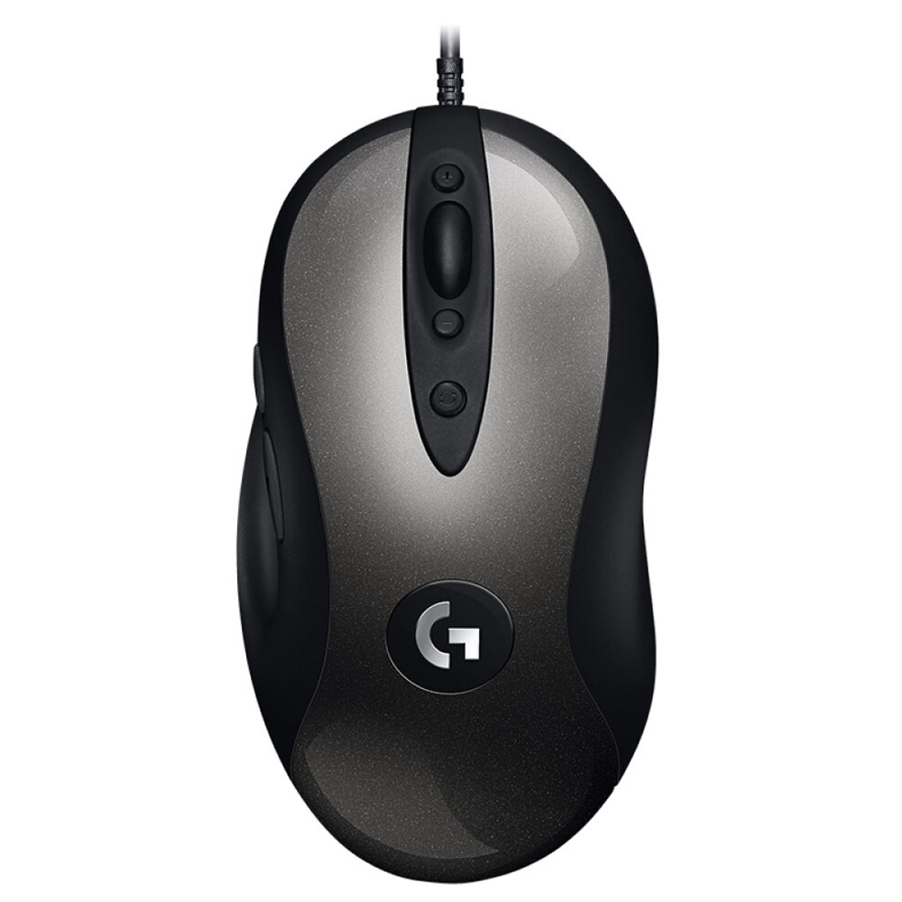 Logitech MX518 Classic Gaming Mouse 8 Programmable Buttons 16000 DPI Right Hand Wired-ブラック