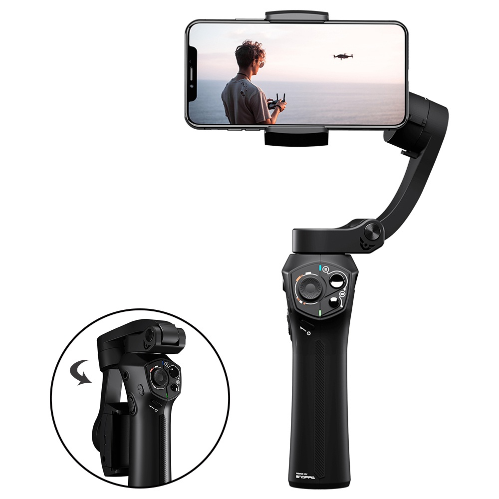 Snoppa Atom 3-Axis Brushless Foldable Handheld Gimbal Stabilizer for Smartphone - Mystery Black фото