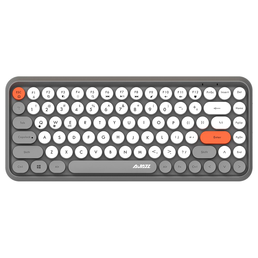 Ajazz 308i Bluetooth Wireless Keyboard 84 Classic Round Keys - Gray
