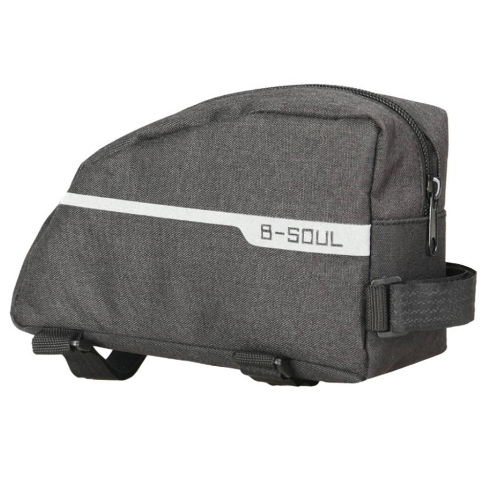 B-SOUL YA277自転車半円形バッグマウンテンバイクフロントビームパッケージ-ブラック