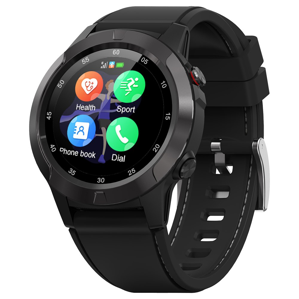 MAKIBES M4C Smart Watch GPS Bluetooth Heart Rate Monitor Call Message Reminder Music Player - Black