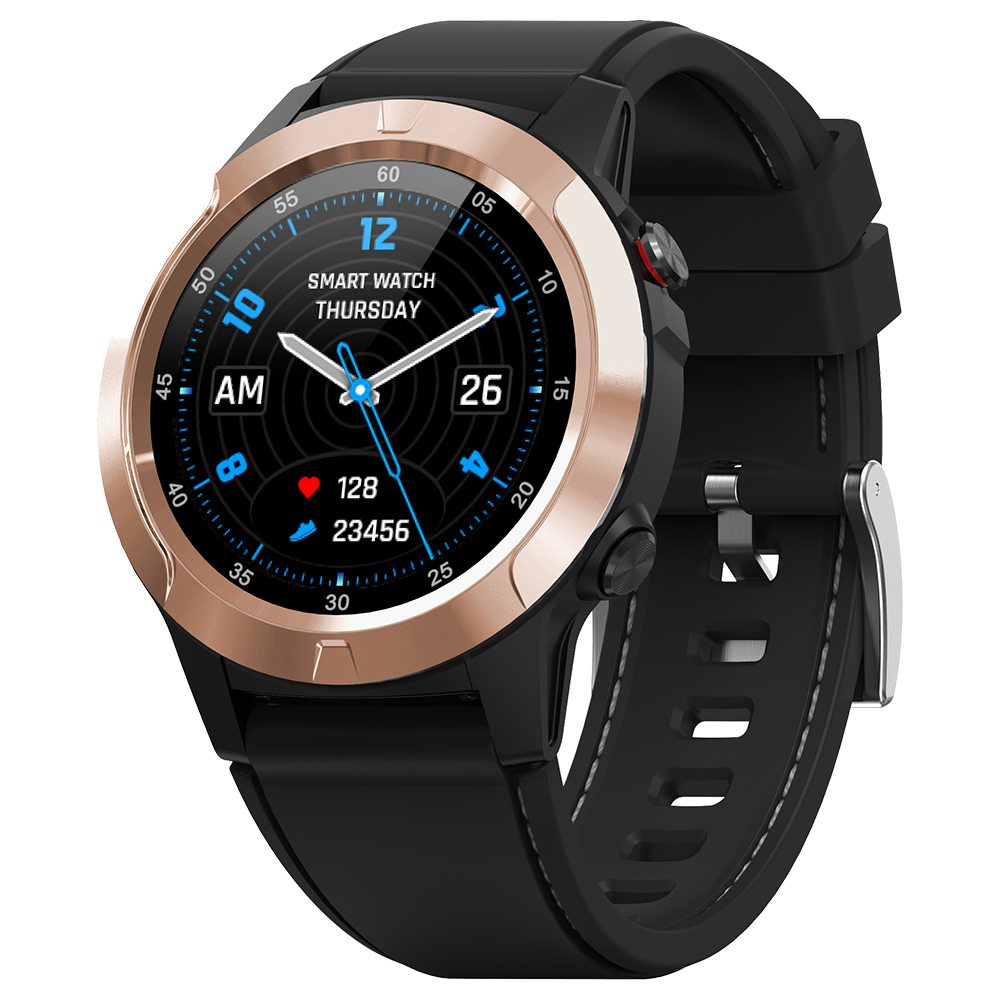 MAKIBES M4C Έξυπνο ρολόι GPS Bluetooth καρδιακό ρυθμό παρακολούθησης κλήσης Υπενθύμιση μήνυμα υπενθύμιση του Music Player - χρυσό