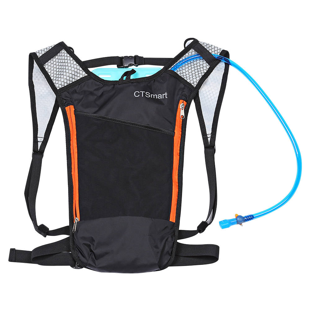 Multifunctional Outdoor Camping Mountaineering Backpack With 2L Water Bladder - Black + Orange фото