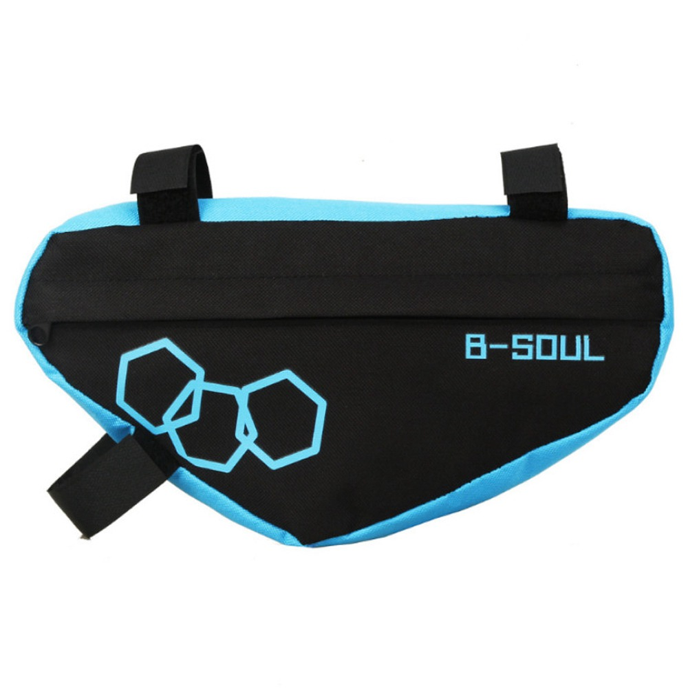 B-SOUL Bicycle Triangle Bag Large Capacity Fully Upper Pipe Saddle Front Beam Bag - Blue