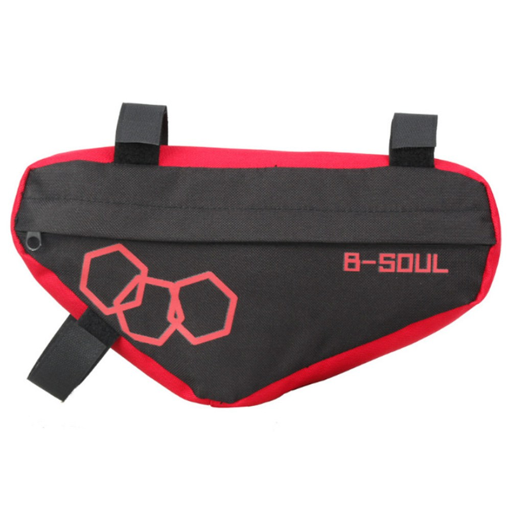 B-SOUL Bicycle Triangle Bag Large Capacity Fully Upper Pipe Saddle Front Beam Bag - Red
