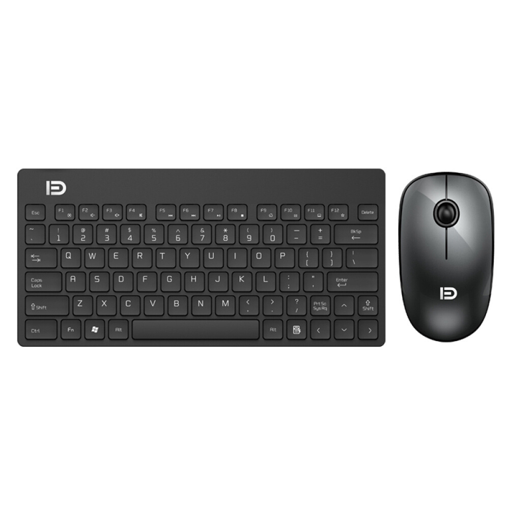FD 1500 Portable Wireless Keyboard Mouse Combos 1500DPI 79 Keys - Black
