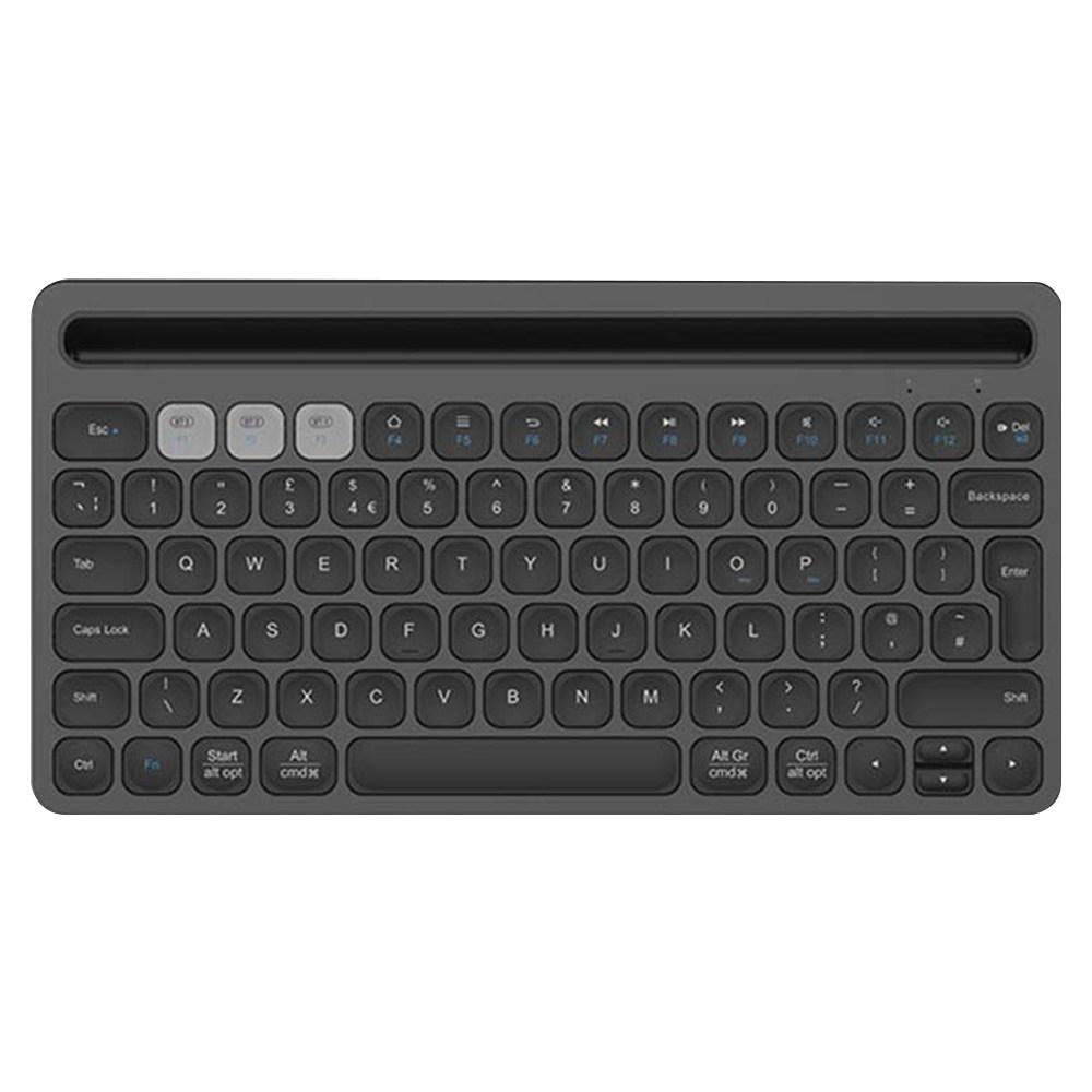 FD ik8500 Portable Wireless Bluetooth Keyboard Ultra Slim Mute Metal Panel 78 Keys - Black