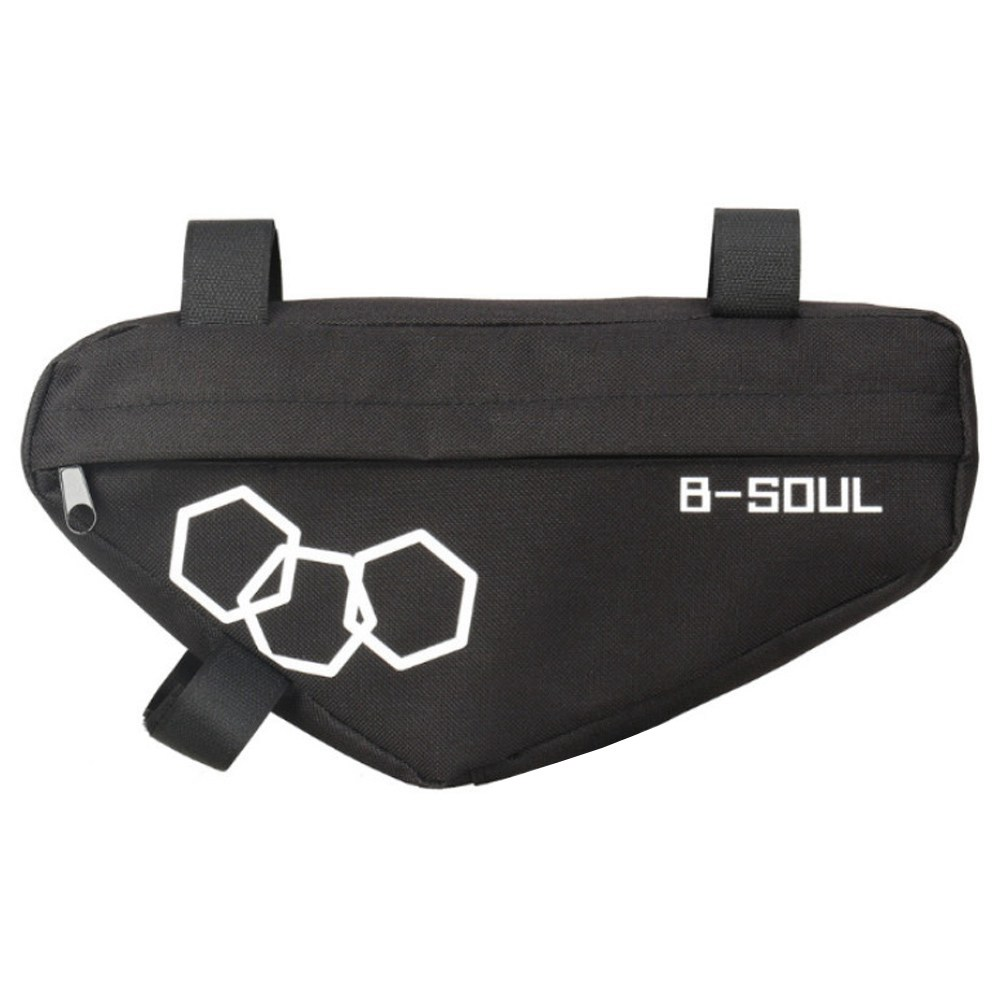 B-SOUL Bicycle Triangle Bag Large Capacity Fully Upper Pipe Saddle Front Beam Bag - Black фото