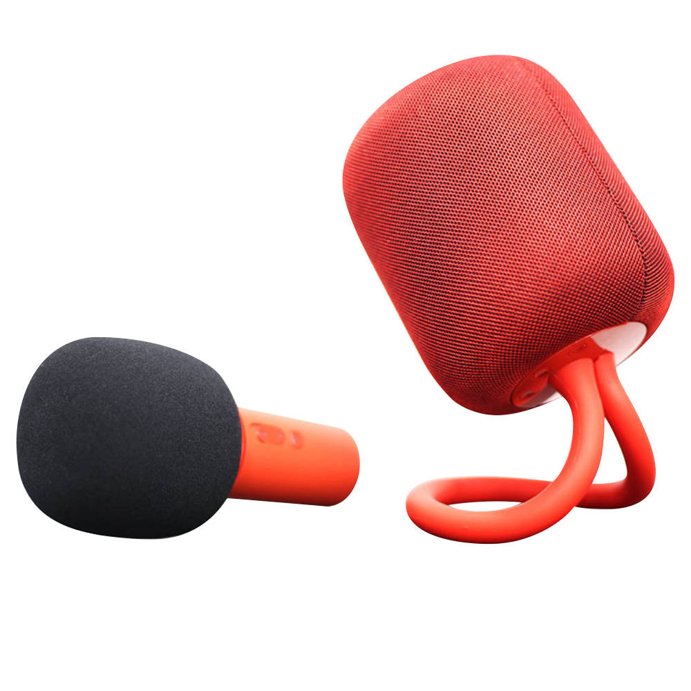 Xiaomi iK8 Karaoke HiFi Haut-parleur stéréo + Microphone Set Câble audio 3.5mm Batterie 5200mAh - Rouge