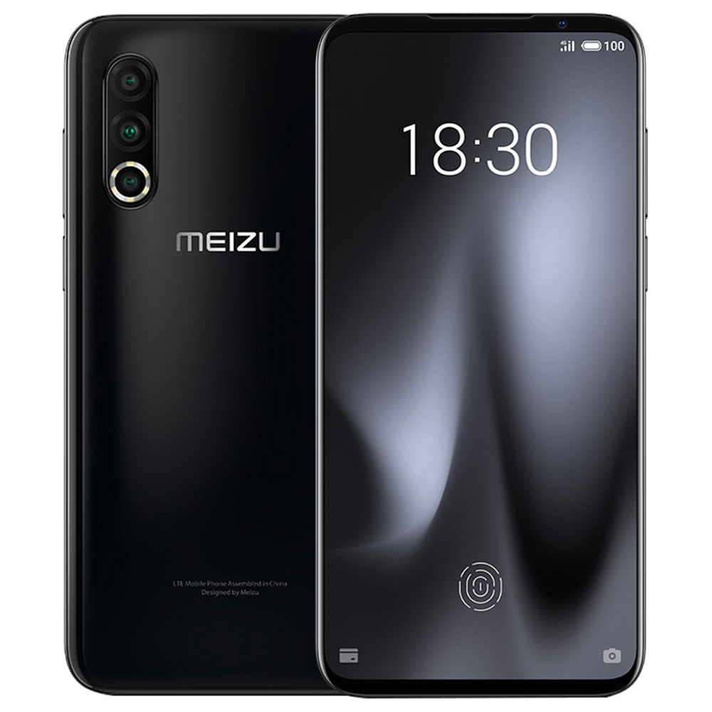 Meizu 16S Pro CN Version 6.2 Inch 4G LTE Smartphone Snapdragon 855 Plus 6GB 128GB 48.0MP+20.0MP+16.0MP Triple Rear Cameras NFC Fingerprint ID Dual SIM  Android 9.0 - Black