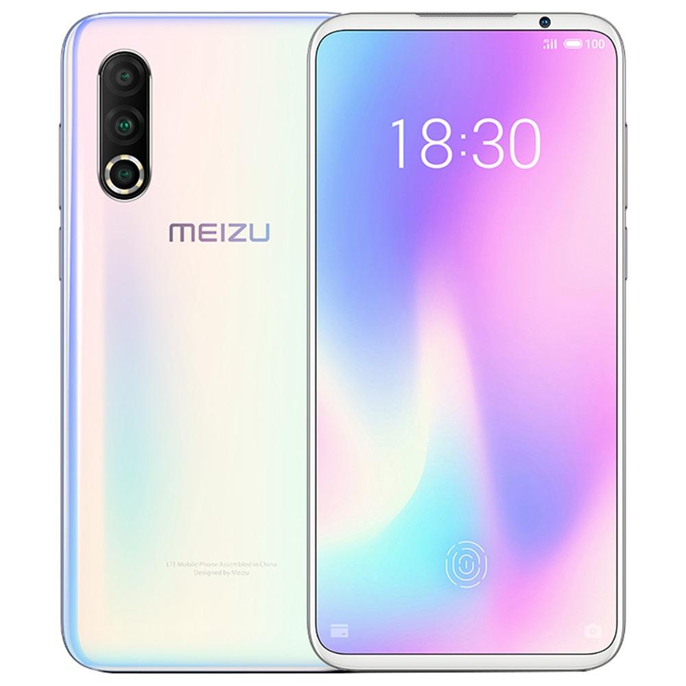 Meizu 16S Pro 6.2インチ4G LTEスマートフォンSnapdragon 855 Plus 8GB 128GB 48.0MP + 20.0MP + 16.0MPトリプルリアカメラNFC指紋IDデュアルSIM Android 9.0-グラデーションホワイト