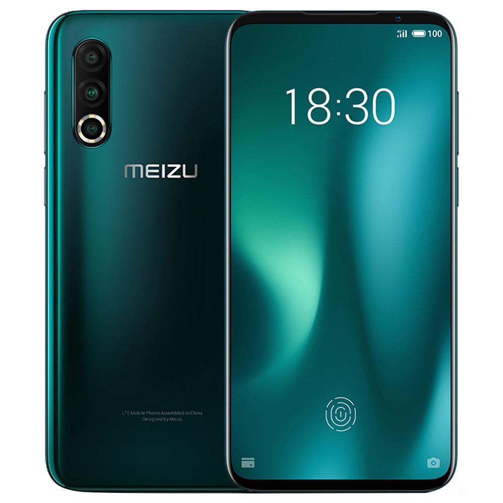 Meizu 16S Pro CN 6.2 hüvelykes 4G LTE okostelefon Snapdragon 855 Plus 8 GB 128 GB 48.0MP + 20.0MP + 16.0MP Hármas hátsó kamera NFC ujjlenyomat-azonosító Dual SIM Android 9.0 - zöld