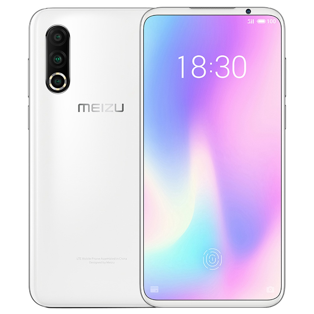 Meizu 16S Pro CN Version 6.2 Inch 4G LTE Smartphone Snapdragon 855 Plus 8GB 128GB 48.0MP+20.0MP+16.0MP Triple Rear Cameras NFC Fingerprint ID Dual SIM  Android 9.0 - White