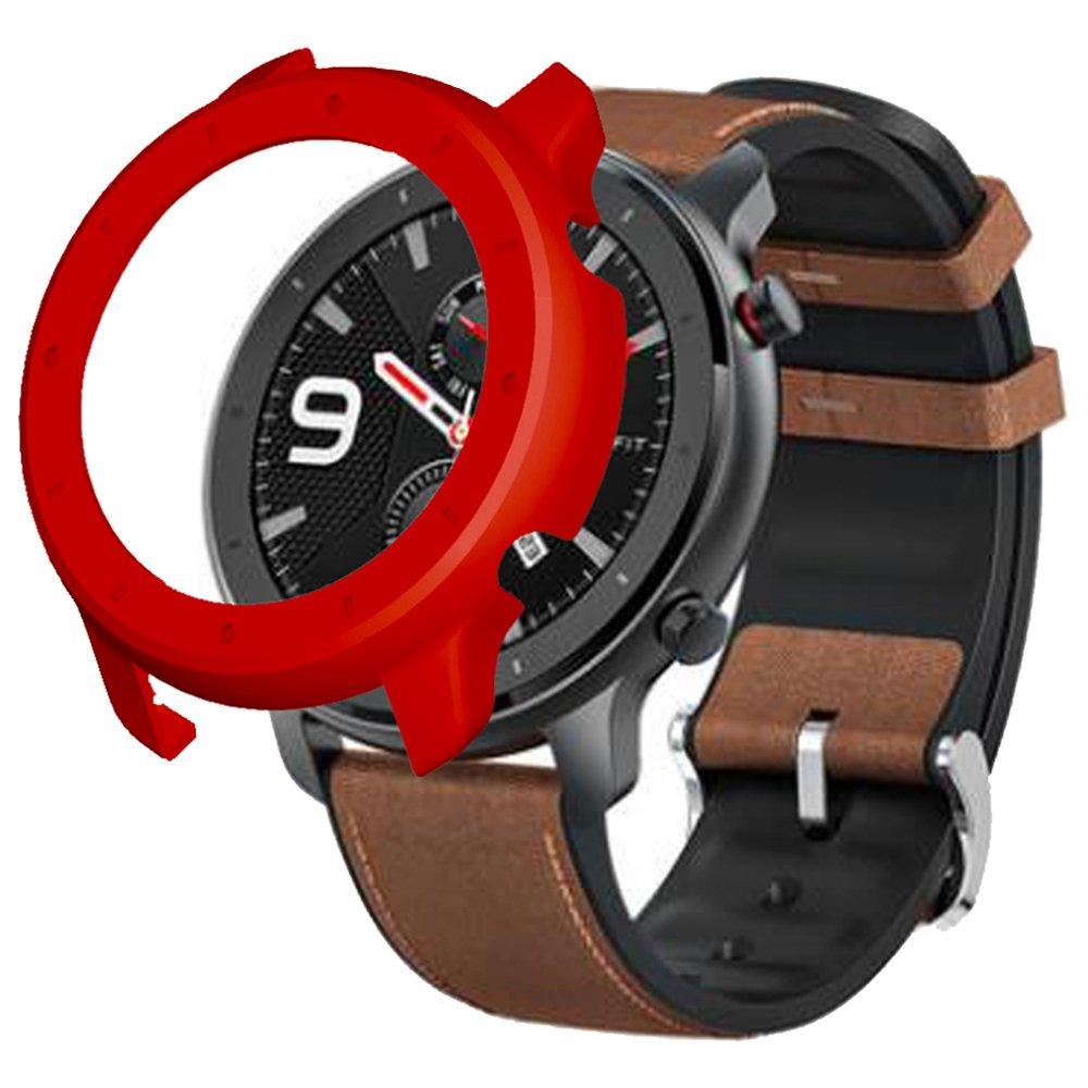 Защитный жесткий чехол для Xiaomi HUAMI AMAZFIT GTR Умные спортивные часы 47MM - красный