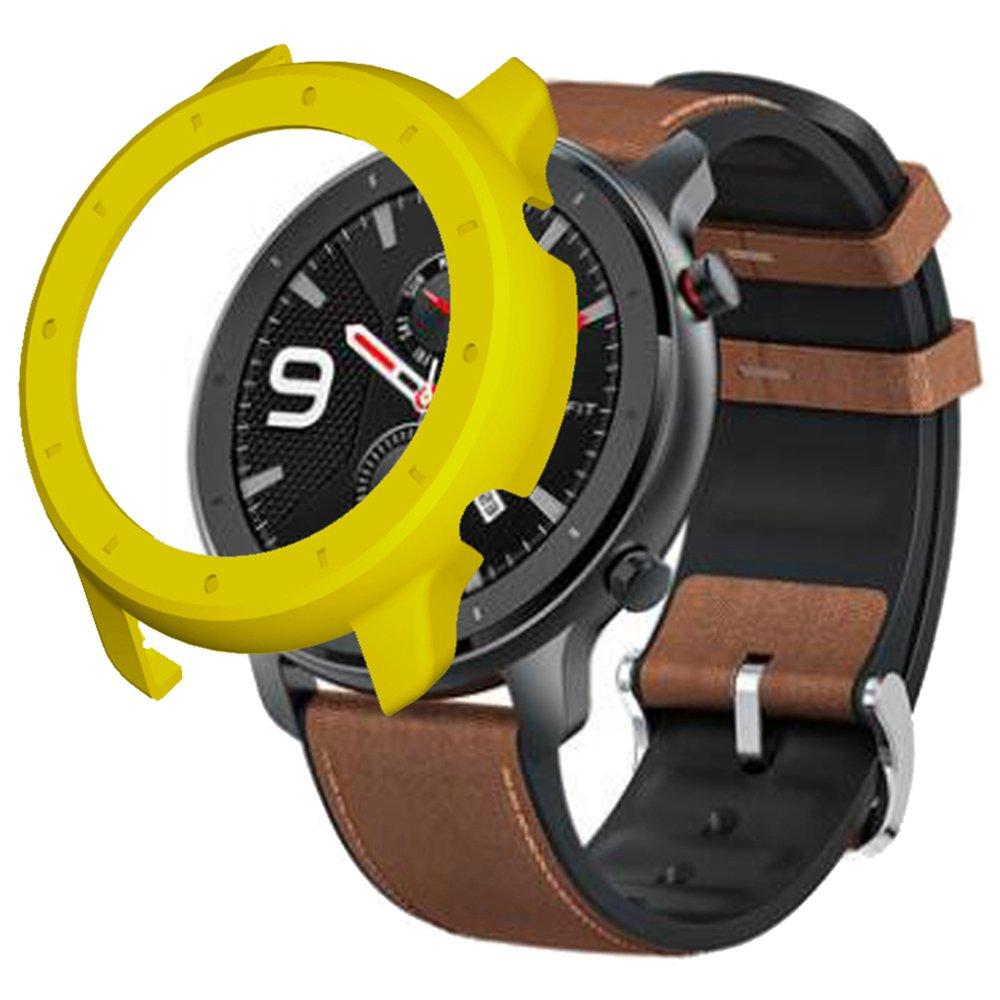Προστατευτική θήκη σκληρού καλύματος για Xiaomi HUAMI AMAZFIT GTR Smart Sports Watch 47MM - κίτρινο