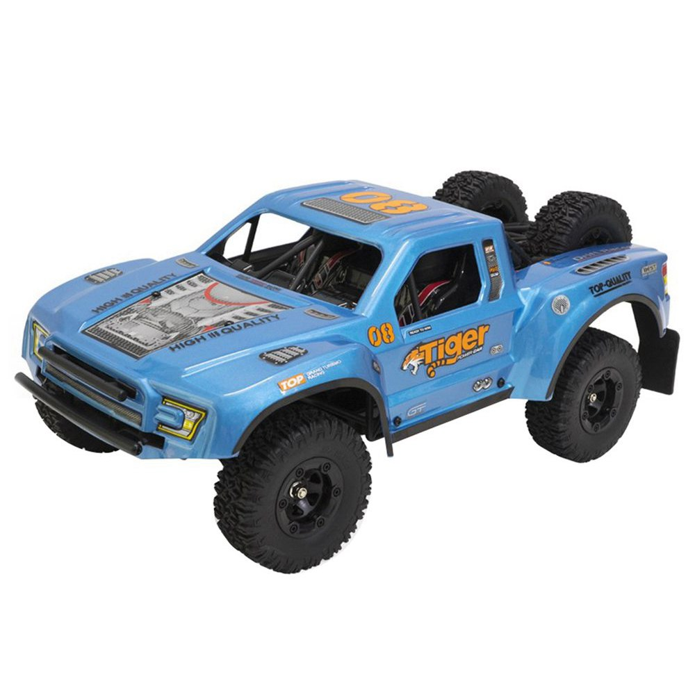 Feiyue FY08 Tiger Brushless 2.4G 4WD 1 / 12 35A Waterproof ESC 55km / h Short Course RC Vehicle Car RTR - Blue