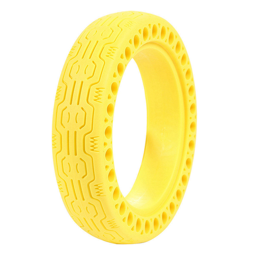 Durable Anti-Explosion Solid Rubber Tire For Xiaomi Mijia M365 Electric Scooter - Yellow