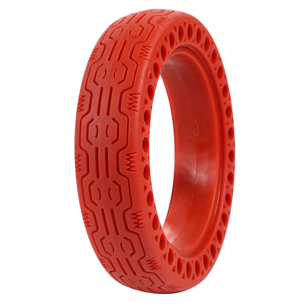 Durable Anti-Explosion Solid Rubber Tire For Xiaomi Mijia M365 Electric Scooter - Red