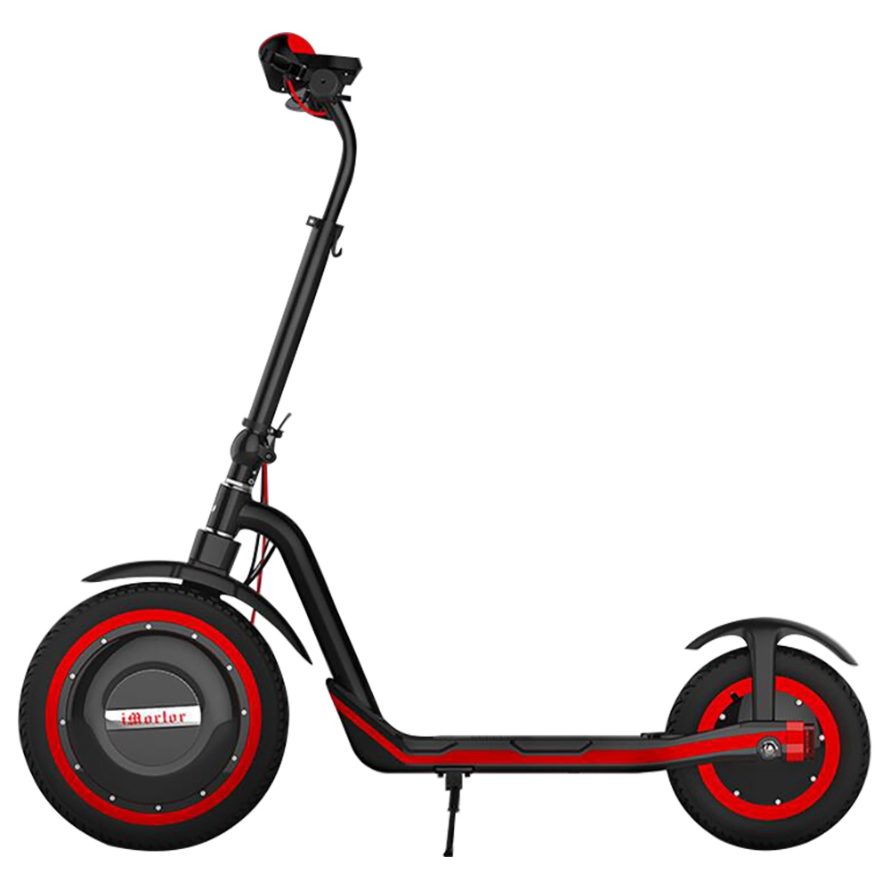 iMortor C1 Foldable Off-road Electric Scooter 350W Motor Max 30km/h 9.6Ah Battery16 Inch Pneumatic Front Tire - Red