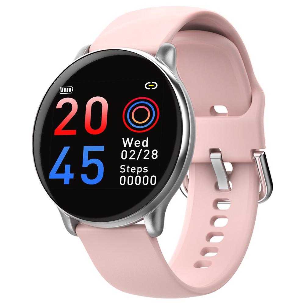 Makibes SE01 Smart Watch 1.3 Pollici Schermo IPS Cardiofrequenzimetro Cardiofrequenzimetro Cinturino in silicone IP68 - Rosa