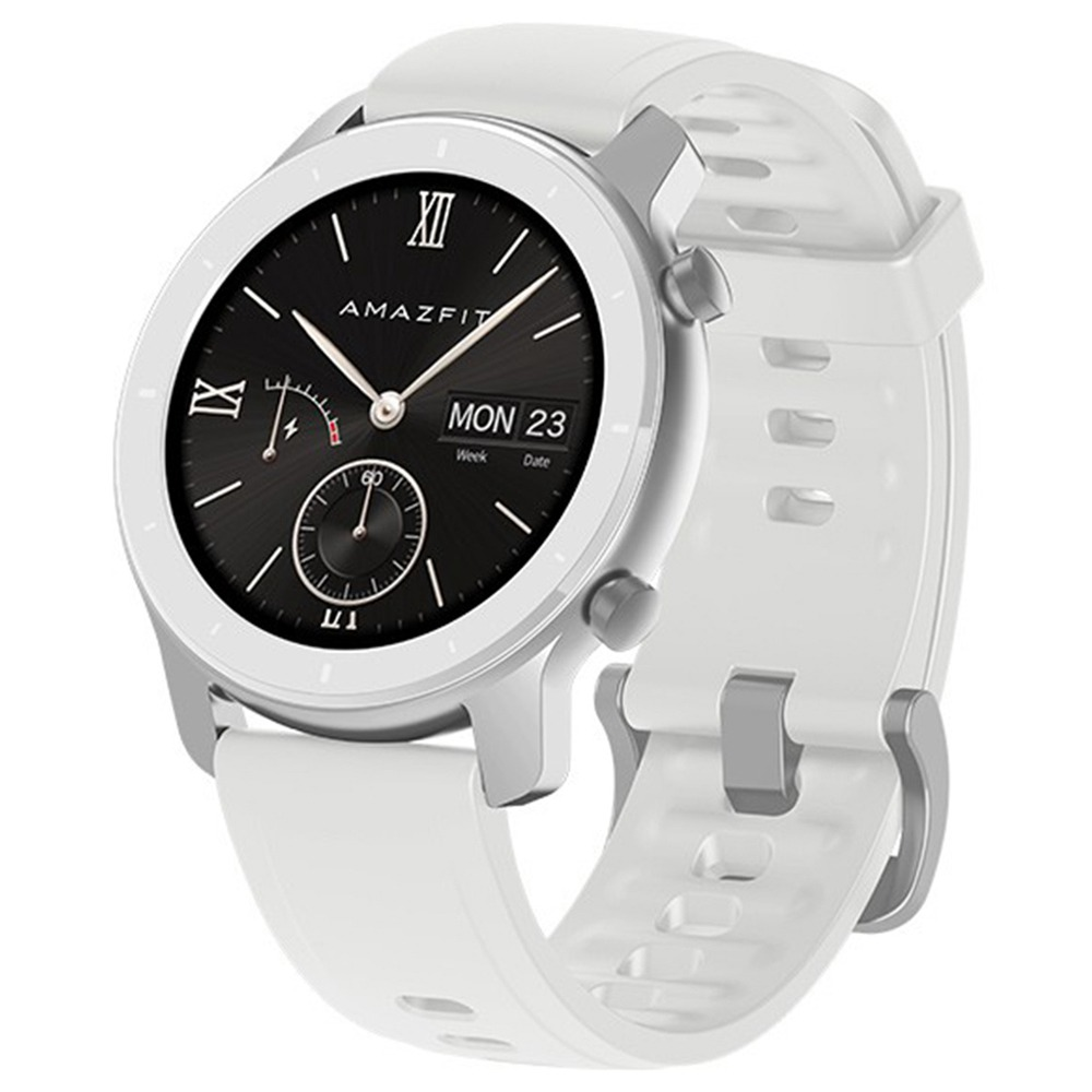 Xiaomi AMAZFIT GTR Smartwatch 1.2 Inch AMOLED Display 5ATM Water Resistant GPS 42mm Aluminum Alloy Global Version - White