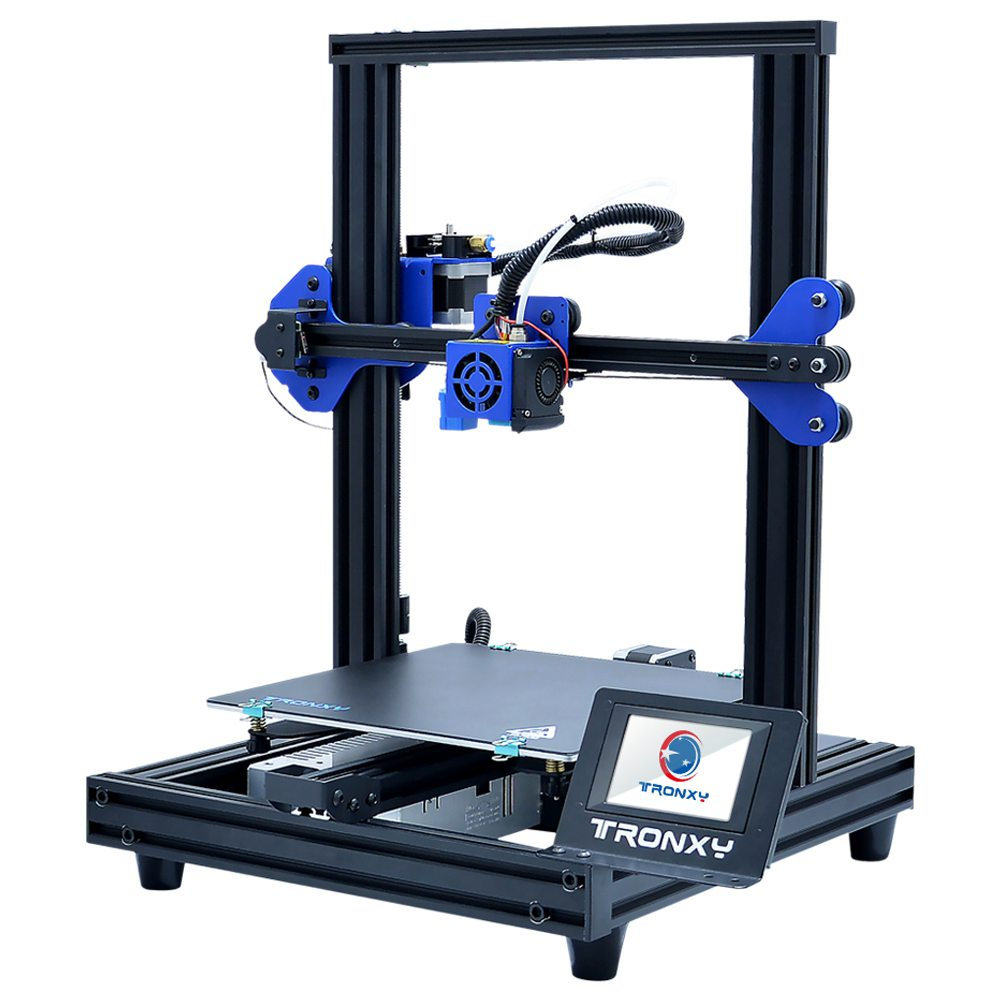 Tronxy XY-2 Pro Titan Extruder 3D Printer 255 x 255mm x 260mm 3.5'' Touch Screen Ultra Silent Motherboard Fast Assembly Resume Printing for Beginner and Home User