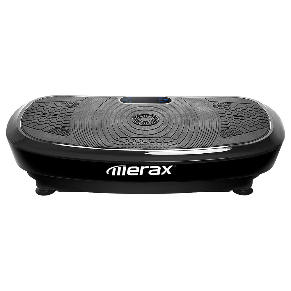 Merax Vibration Plate Professional 3D Wipp Vibration Technology 2 Powerful Motors With Bluetooth Speaker - Black