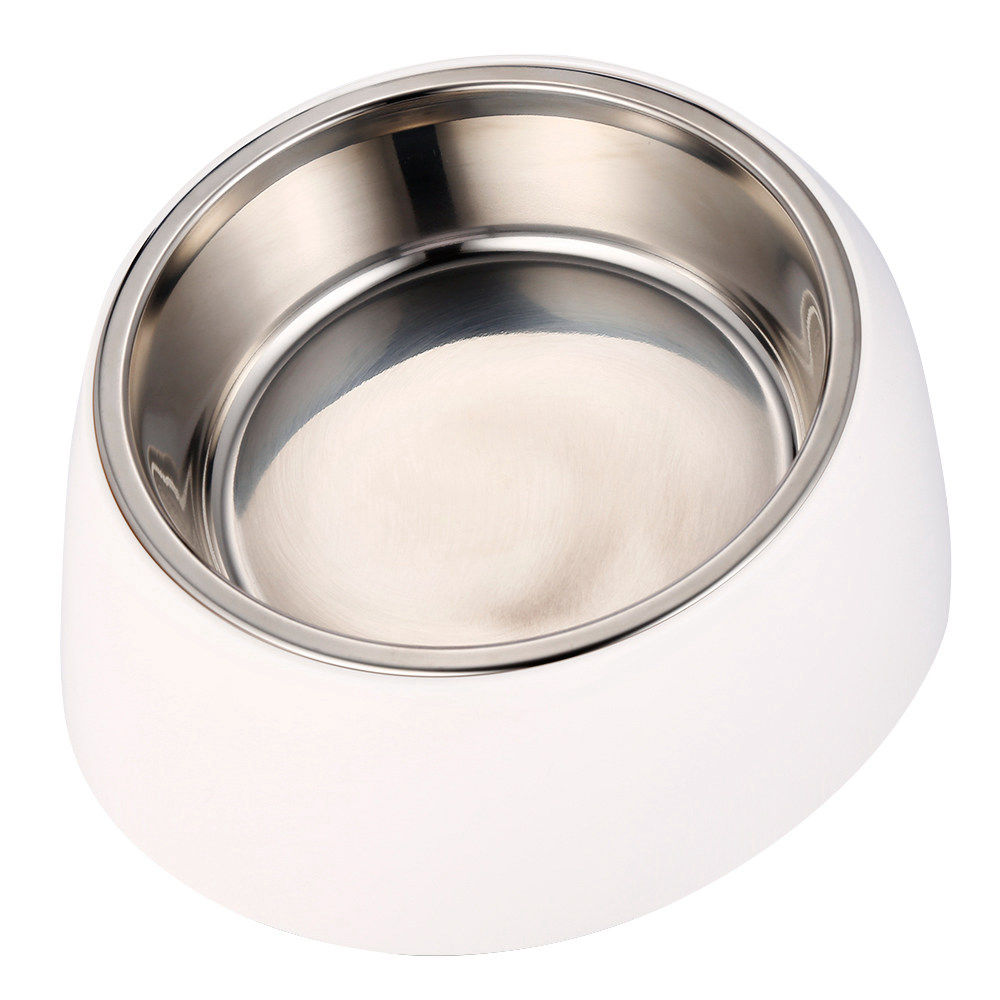 Xiaomi Youpin Stainless Steel Pet Dog Bowl 15 Degree Tilted Feeder Rust-resistant Non-skid Design