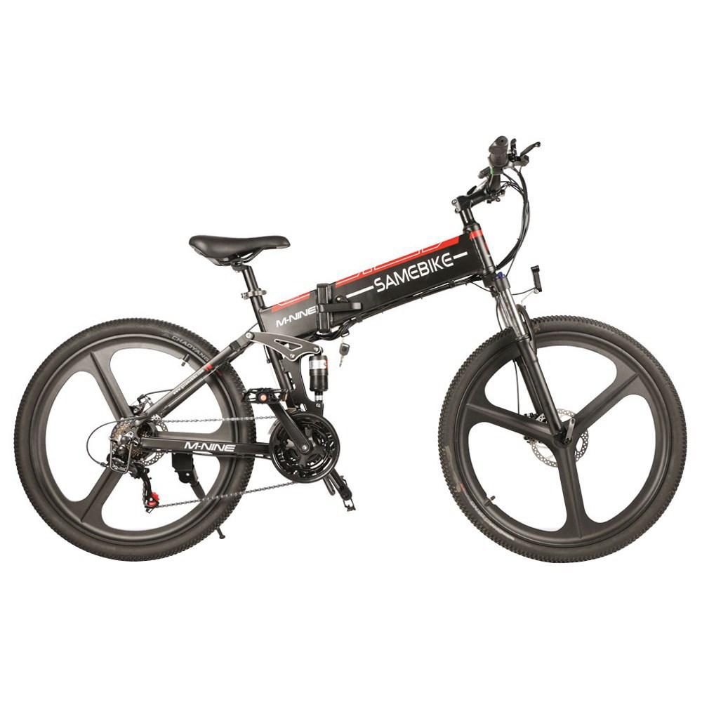 Samebike LO26 Smart Vélomoteur Électrique Vélo 350W Moteur 10.4Ah Batterie Max 35km / h Pneu 26 Inch - Noir