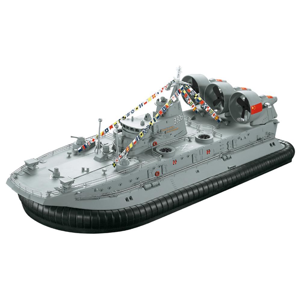 HG HG-C201 1 / 110 2.4Gブラシレス軍艦モデルの着陸と水上エアクッション着陸クラフトRCボートRTR-グレー