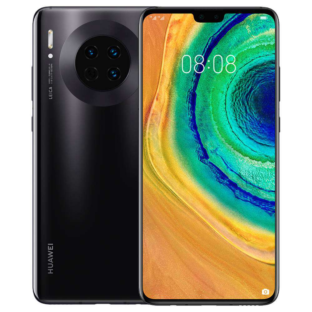 HUAWEI Mate 30 CN Version 6.62 Inch 4G LTE Smartphone Kirin 990 8GB 128GB 40.0MP+16.0MP+8.0MP Triple Leica Rear Cameras NFC Fingerprint ID Dual SIM Android 10.0 - Black
