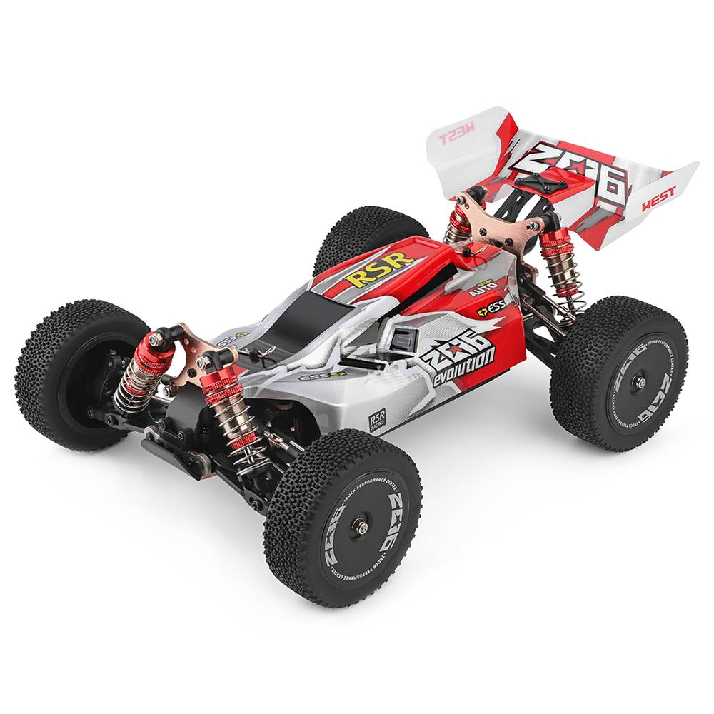 Wltoys 144001 Driving 1/14 2.4G 4WD 60km/h Electric Brushed Off-Road Buggy RC Car RTR - Red