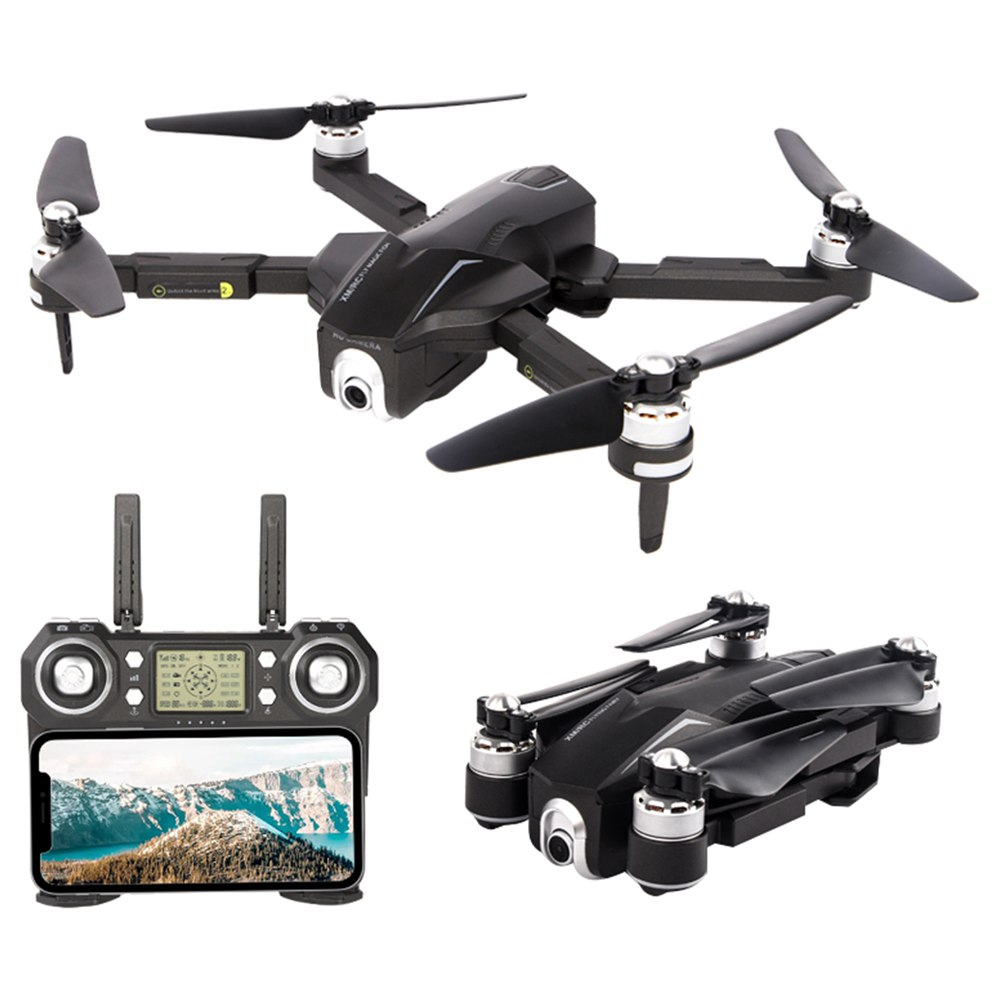XMR/C M8 4K 5G WIFI Brushless GPS Foldable RC Drone With Adjustable 110 Degree Wide-angle Camera Automatic Following RTF - Three Batteries With Bag