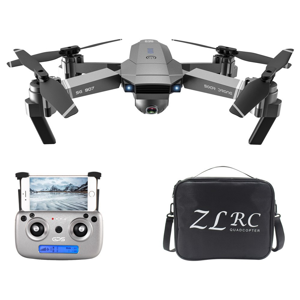 ZLRC SG907 4K 5G WIFI FPV GPS Foldable RC Drone With Adjustable 120 Degree Wide-angle Camera 50x Zoom Optical Flow Positioning RTF - One Battery With Bag