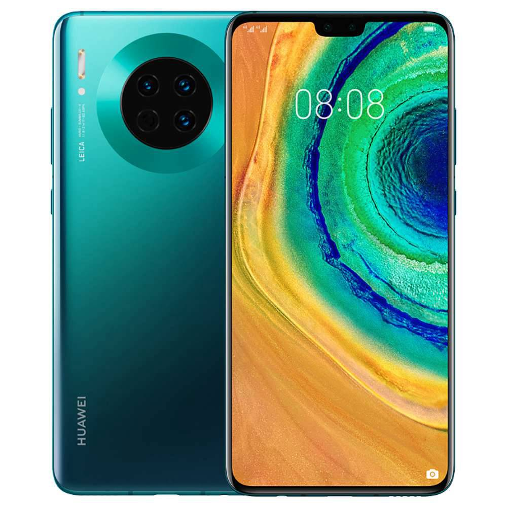 "HUAWEI Mate 30 CN Version 5G Smartphone 6.62"" OLED Display Kirin 990 8GB 128GB 40.0MP+16.0MP+8.0MP Triple Leica Rear Cameras NFC Fingerprint ID Dual SIM Android 10.0 - Emerald Green"