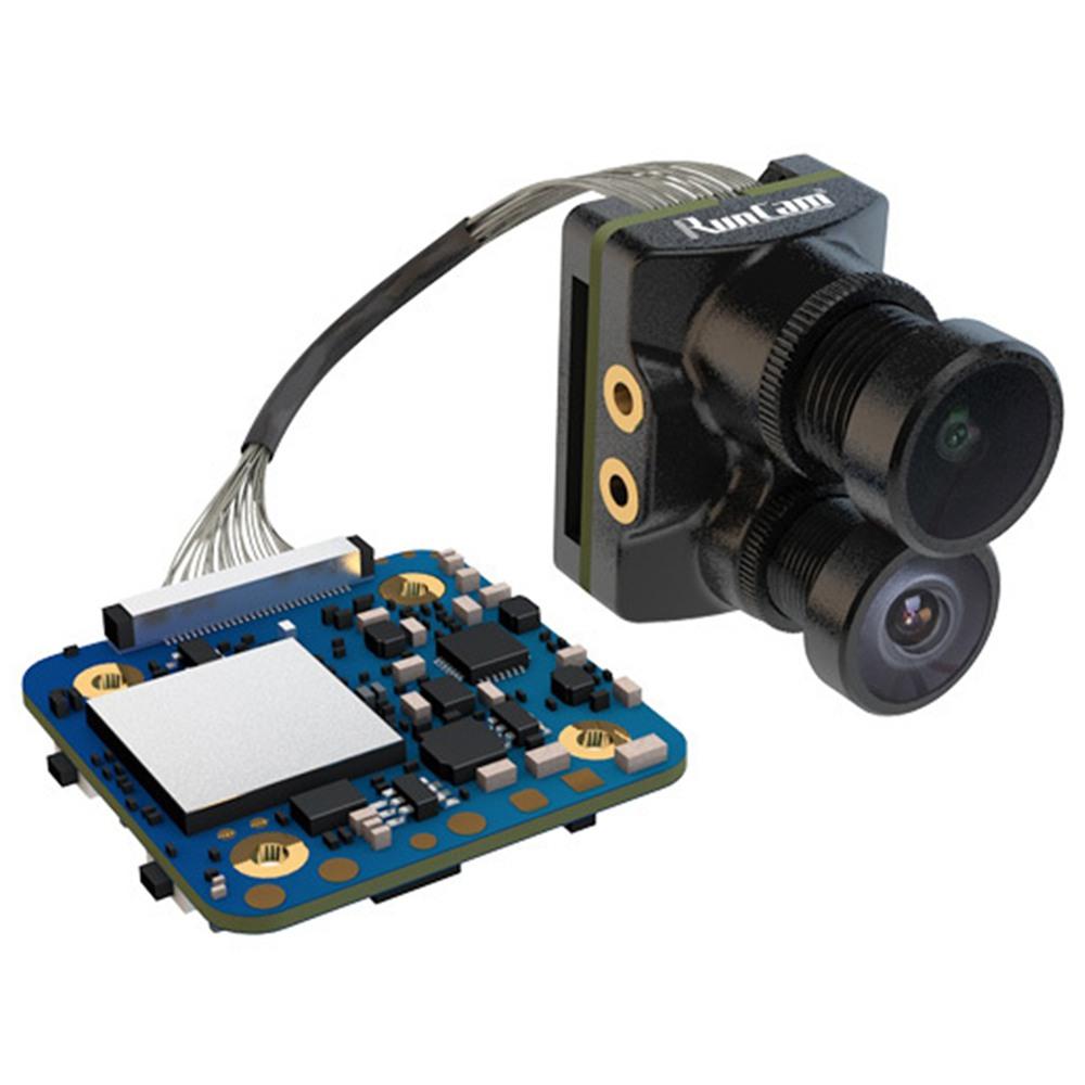 Runcam ไฮบริด 4K / 30FPS เลนส์คู่ FOV 145 องศาบันทึก HD 6ms Latency การตั้งค่าพารามิเตอร์พารามิเตอร์รหัส QR กล้อง FPV สำหรับแข่งจมูก - ดำ