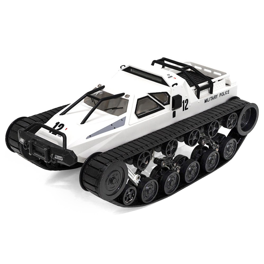 SG 1203 1:12 2.4G Military Police Drift Tank Model 12km/h High-speed RC Tank RTR For Kids Gift - White
