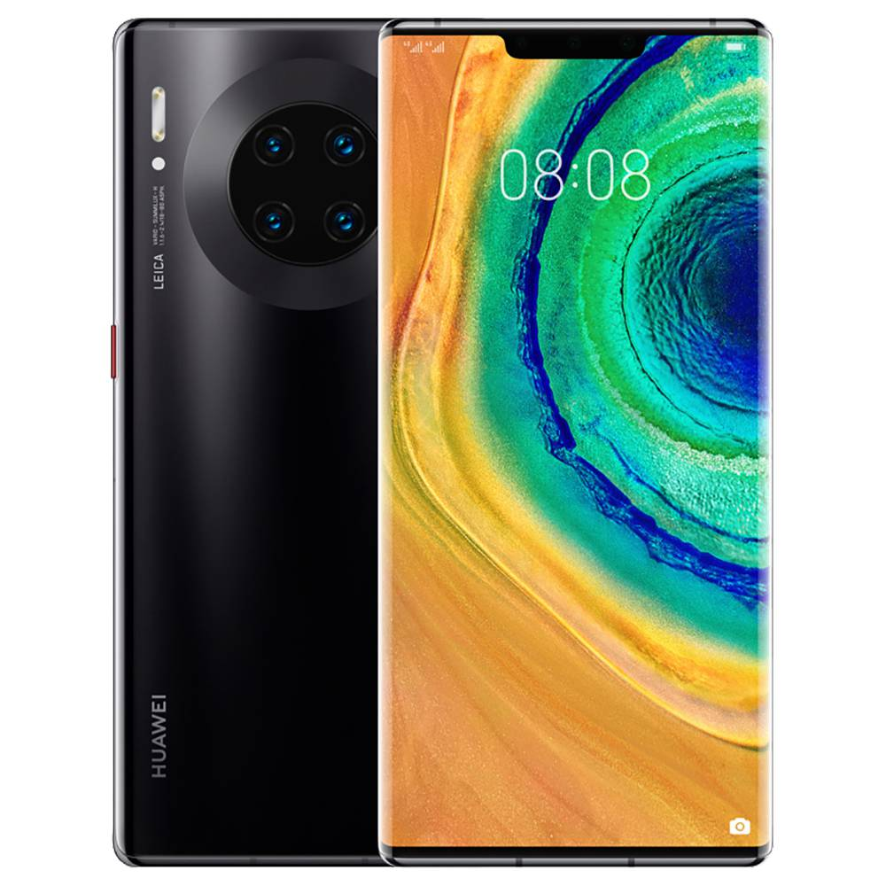 "HUAWEI Mate 30 Pro CN Version 5G Smartphone 6.53"" OLED Display Kirin 990 8GB 512GB 40.0MP+40.0MP+8.0MP+3D Depth Sensing Quad Rear Cameras NFC Fingerprint ID Dual SIM Android 10.0 - Black"
