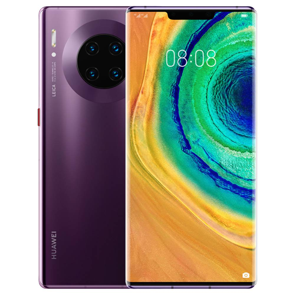 "HUAWEI Mate 30 Pro CN Version 5G Smartphone 6.53"" OLED Display Kirin 990 8GB 512GB 40.0MP+40.0MP+8.0MP+3D Depth Sensing Quad Rear Cameras NFC Fingerprint ID Dual SIM Android 10.0 - Cosmic Purple"