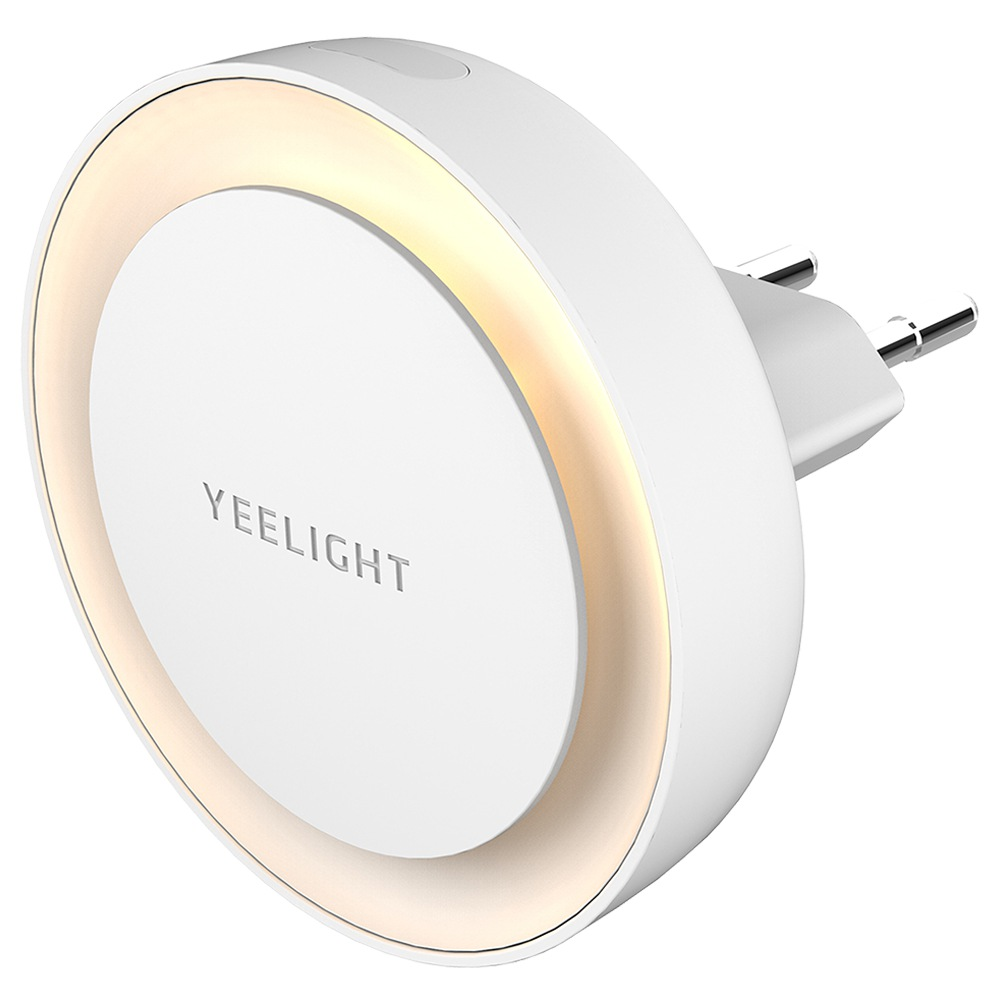 2pcs Xiaomi Yeelight YLYD11YL Plug-in sensore di luce a LED Luce notturna Consumo ultra-basso Spina UE - Bianco