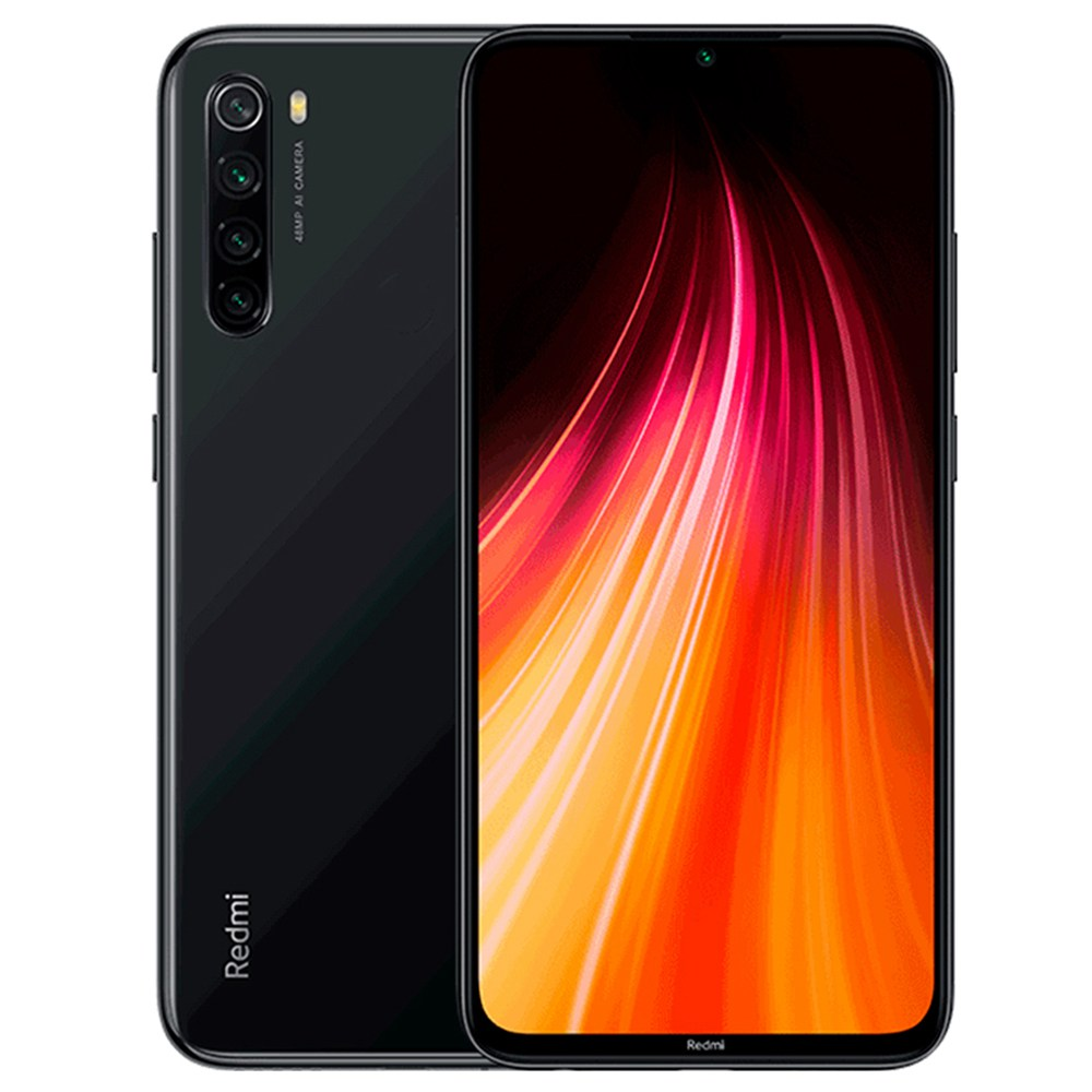 Xiaomi Redmi Note 8 6.3 Inch 4G LTE Smartphone Snapdragon 665 4GB 64GB 48.0MP+8.0MP+2.0MP+2.0MP Quad Rear Cameras Fingerprint ID Dual SIM Android 9.0 Global Version - Black