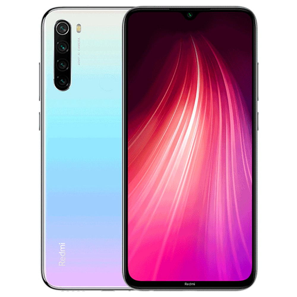 Xiaomi Redmi Note 8 6.3 Inch 4G LTE Smartphone Snapdragon 665 4GB 64GB 48.0MP+8.0MP+2.0MP+2.0MP Quad Rear Cameras Fingerprint ID Dual SIM Android 9.0 Global Version - White