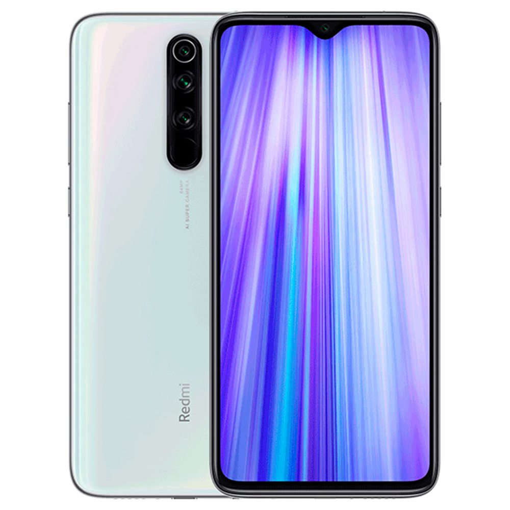 Xiaomi Redmi Note 8 Pro 6.53 Inch 4G LTE Smartphone MTK Helio G90T 6GB 128GB 64.0MP + 8.0MP + 2.0MP + 2.0MP Quad Rear Cameras MIUI 10 Type-C Fingerprint ID Global Version - White