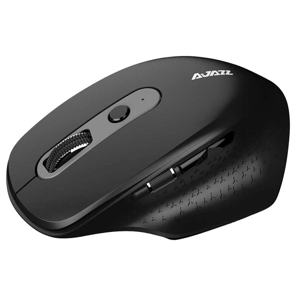 Ajazz i660T πολλαπλών λειτουργιών ασύρματο ποντίκι BT4.0 2.4G θύρα τύπου C - μαύρο