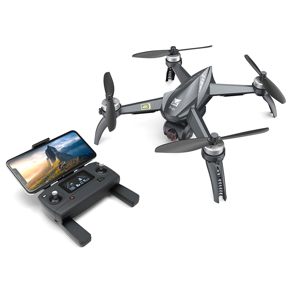 MJX Bugs 5 W B5W 4K Version 5G WIFI FPV GPS RC Drone With Single-axis Gimbal 20mins Flying Time Follow Me Mode RTF - One Battery With Bag фото