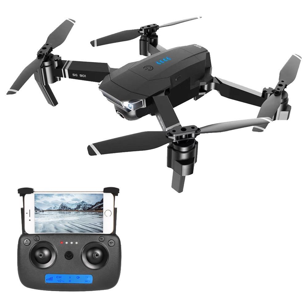ZLRC SG901 YUE 4K WIFI قابلة للطي RC بدون طيار مع زاوية عريضة قابلة للضبط كاميرا التدفق البصري RTF - ثلاث بطاريات مع حقيبة