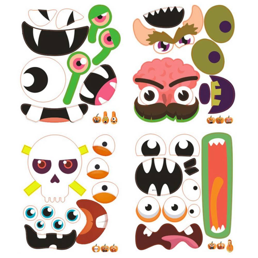12 Sets Halloween Foam Pumpkin Decoration Stickers, Self Adhesive 3D  Pumpkin Face Decorating Stickers Craft