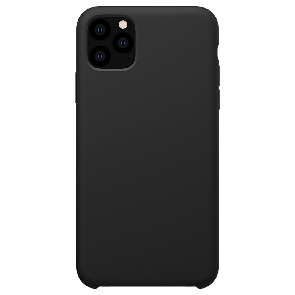 NILLKIN szilikon telefon tok iPhone 11 Pro Max védő hátlaphoz 6.5 hüvelykes - fekete